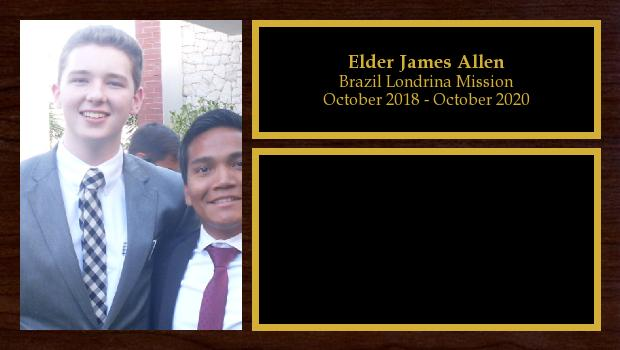October 2018 to October 2020<br/>Elder James Allen