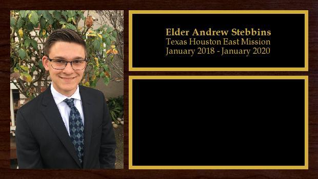 January 2018 to January 2020<br/>Elder Andrew Stebbins