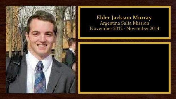 November 2012 to November 2014<br/>Elder Jackson Murray