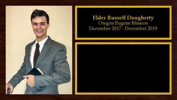 December 2017 to December 2019<br/>Elder Russell Daugherty