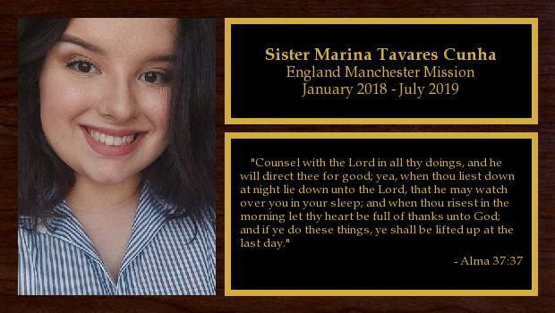 January 2018 to July 2019<br/>Sister Marina Tavares Cunha