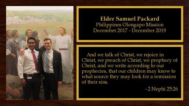 December 2017 to December 2019<br/>Elder Samuel Packard