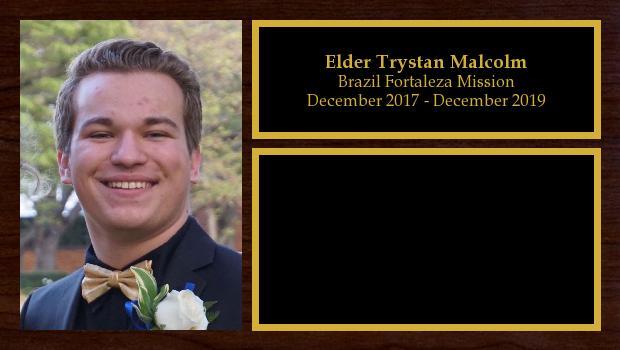 December 2017 to December 2019<br/>Elder Trystan Malcolm