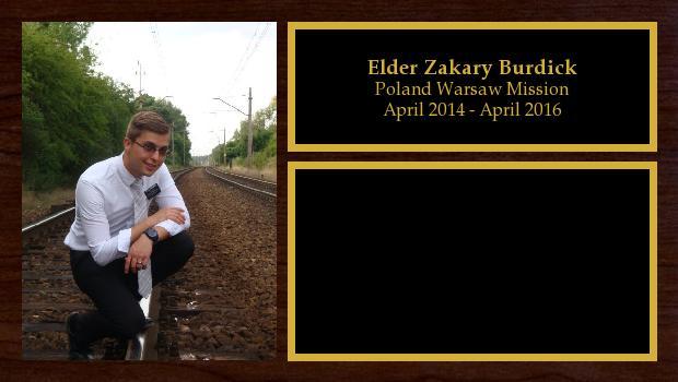 April 2014 to April 2016<br/>Elder Zakary Burdick