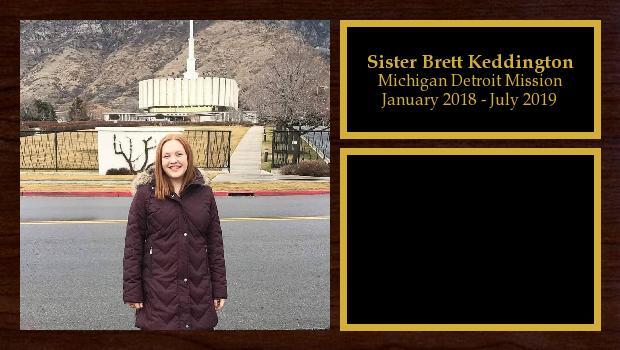 January 2018 to June 2019<br/>Sister Brett Keddington