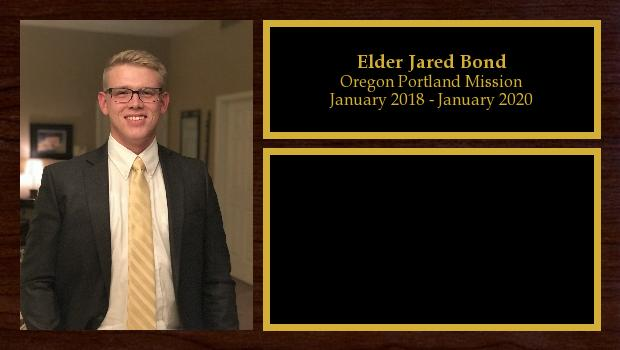 January 2018 to December 2019<br/>Elder Jared Bond