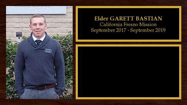September 2017 to September 2019<br/>Elder GARETT BASTIAN