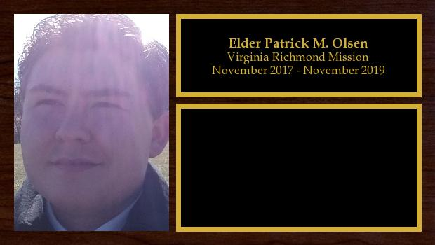 November 2017 to November 2019<br/>Elder Patrick M. Olsen