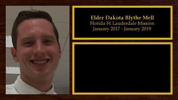 January 2017 to January 2019<br/>Elder Dakota Blythe Mell