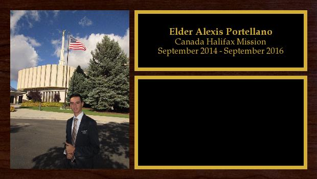 September 2014 to September 2016<br/>Elder Alexis Portellano