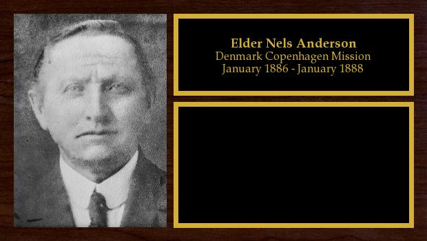 January 1886 to January 1888<br/>Elder Nels Anderson