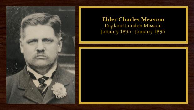 January 1893 to January 1895<br/>Elder Charles Measom
