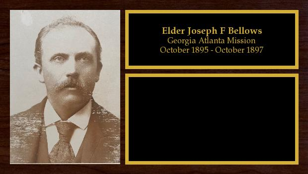 October 1895 to October 1897<br/>Elder Joseph F Bellows