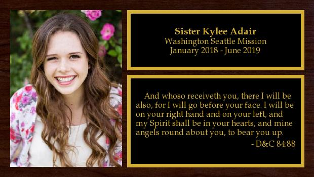 January 2018 to June 2019<br/>Sister Kylee Adair