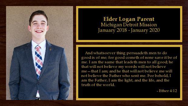 January 2018 to January 2020<br/>Elder Logan Parent