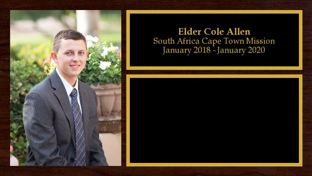 January 2018 to January 2020<br/>Elder Cole Allen