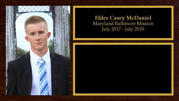 July 2017 to July 2019<br/>Elder Casey McDaniel