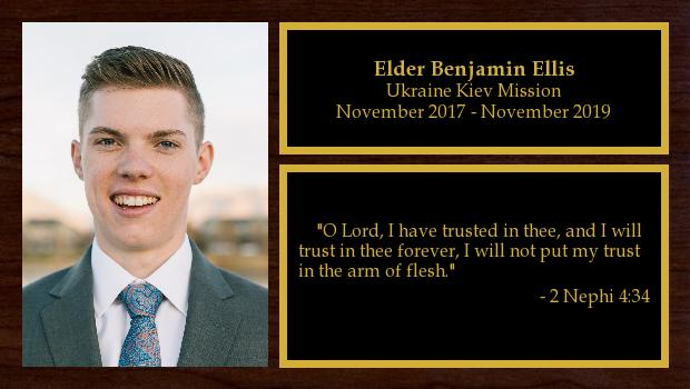 November 2017 to November 2019<br/>Elder Benjamin Ellis