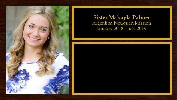 January 2018 to July 2019<br/>Sister Makayla Palmer