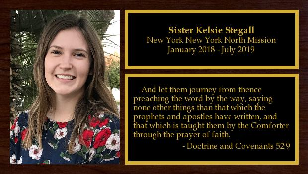 January 2018 to July 2019<br/>Sister Kelsie Stegall