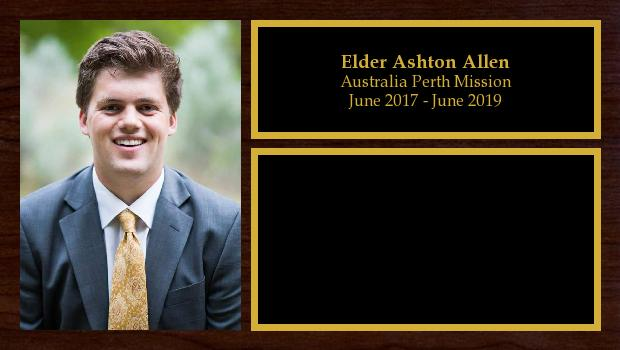 June 2017 to June 2019<br/>Elder Ashton Allen