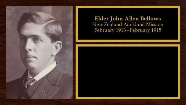 February 1913 to February 1915<br/>Elder John Allen Bellows