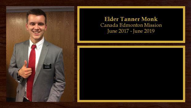 June 2017 to June 2019<br/>Elder Tanner Monk
