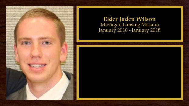 January 2016 to January 2018<br/>Elder Jaden Wilson