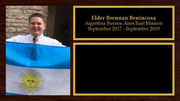 September 2017 to September 2019<br/>Elder Brennan Benincosa