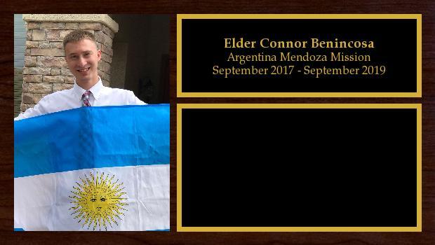 September 2017 to September 2019<br/>Elder Connor Benincosa