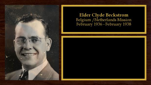 February 1936 to February 1938<br/>Elder Clyde Beckstrom