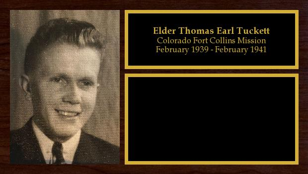 February 1939 to February 1941<br/>Elder Thomas Earl Tuckett