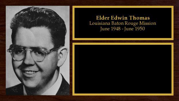 June 1948 to June 1950<br/>Elder Edwin Thomas