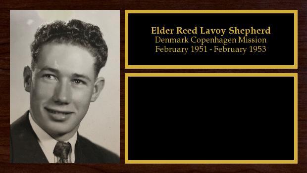 February 1951 to February 1953<br/>Elder Reed Lavoy Shepherd