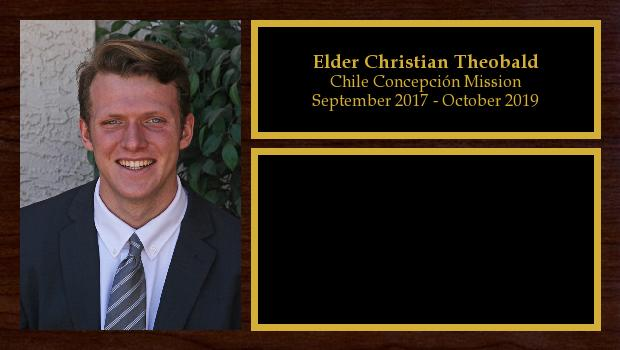 September 2017 to October 2019<br/>Elder Christian Theobald