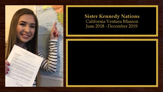 June 2018 to December 2019<br/>Sister Kennedy Nations