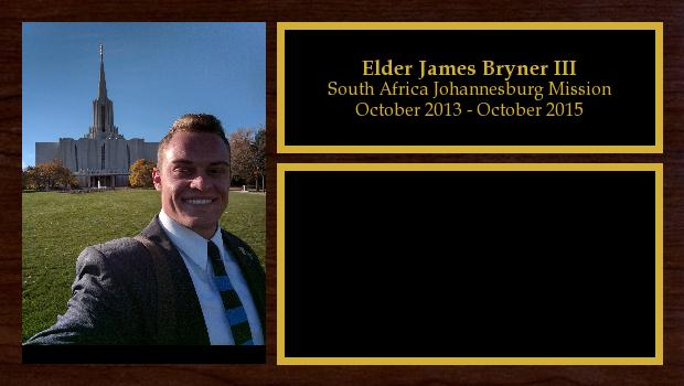 October 2013 to October 2015<br/>Elder James Bryner III