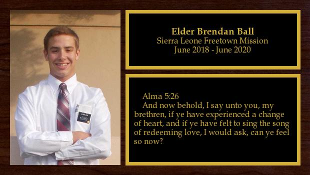 June 2018 to April 2020<br/>Elder Brendan Ball