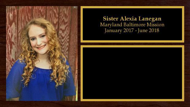 January 2017 to June 2018<br/>Sister Alexia Lanegan