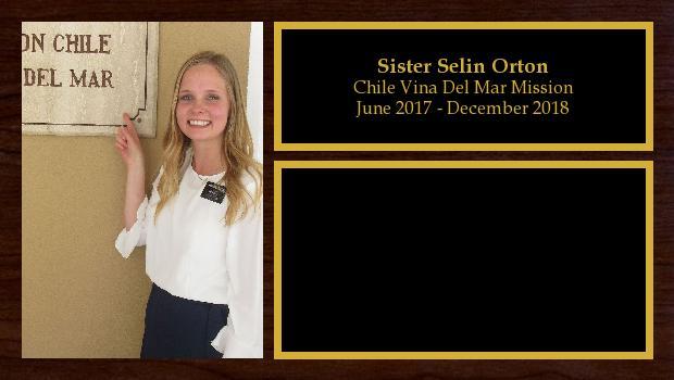 June 2017 to December 2018<br/>Sister Selin Orton