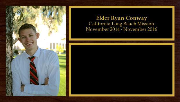 November 2014 to November 2016<br/>Elder Ryan Conway