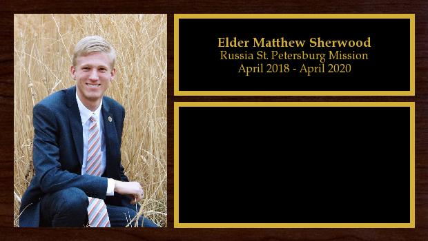 April 2018 to April 2020<br/>Elder Matthew Sherwood