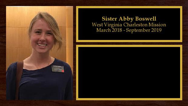 March 2018 to September 2019<br/>Sister Abby Boswell