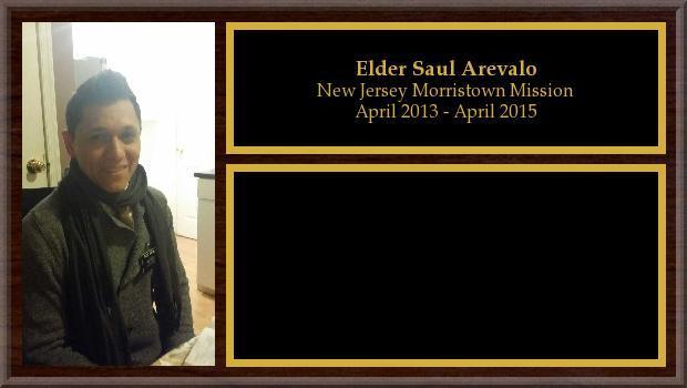 April 2013 to April 2015<br/>Elder Saul Arevalo