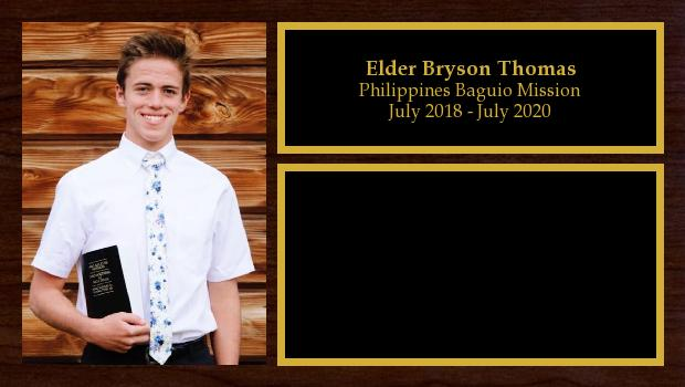 July 2018 to July 2020<br/>Elder Bryson Thomas