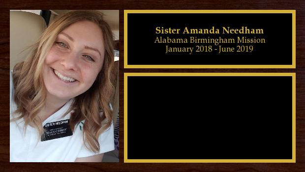 January 2018 to June 2019<br/>Sister Amanda Needham