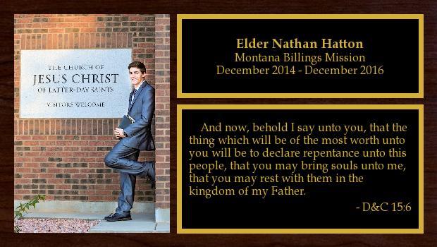 December 2014 to December 2016<br/>Elder Nathan Hatton