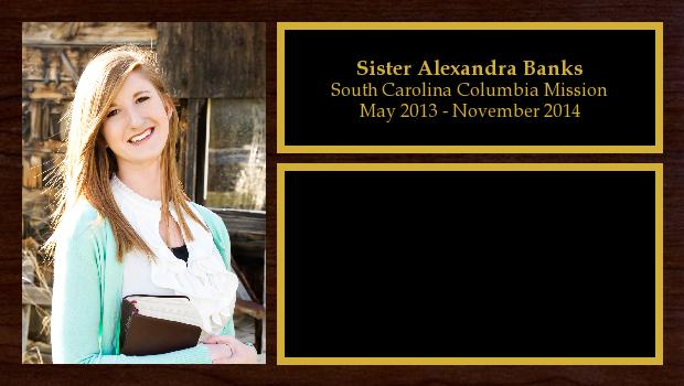 May 2013 to November 2014<br/>Sister Alexandra Banks