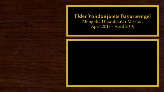 April 2017 to April 2019<br/>Elder Yondonjamts Bayartsengel