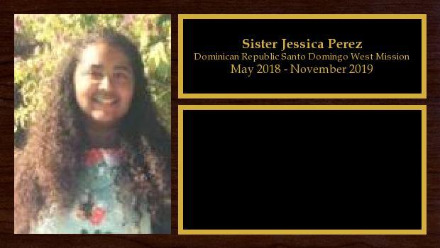 May 2018 to November 2019<br/>Sister Jessica Perez